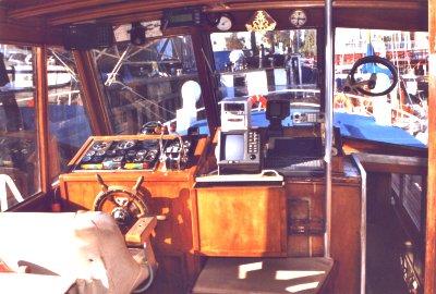 "Stahlmotoryacht ""Lago"", Steuerstand"